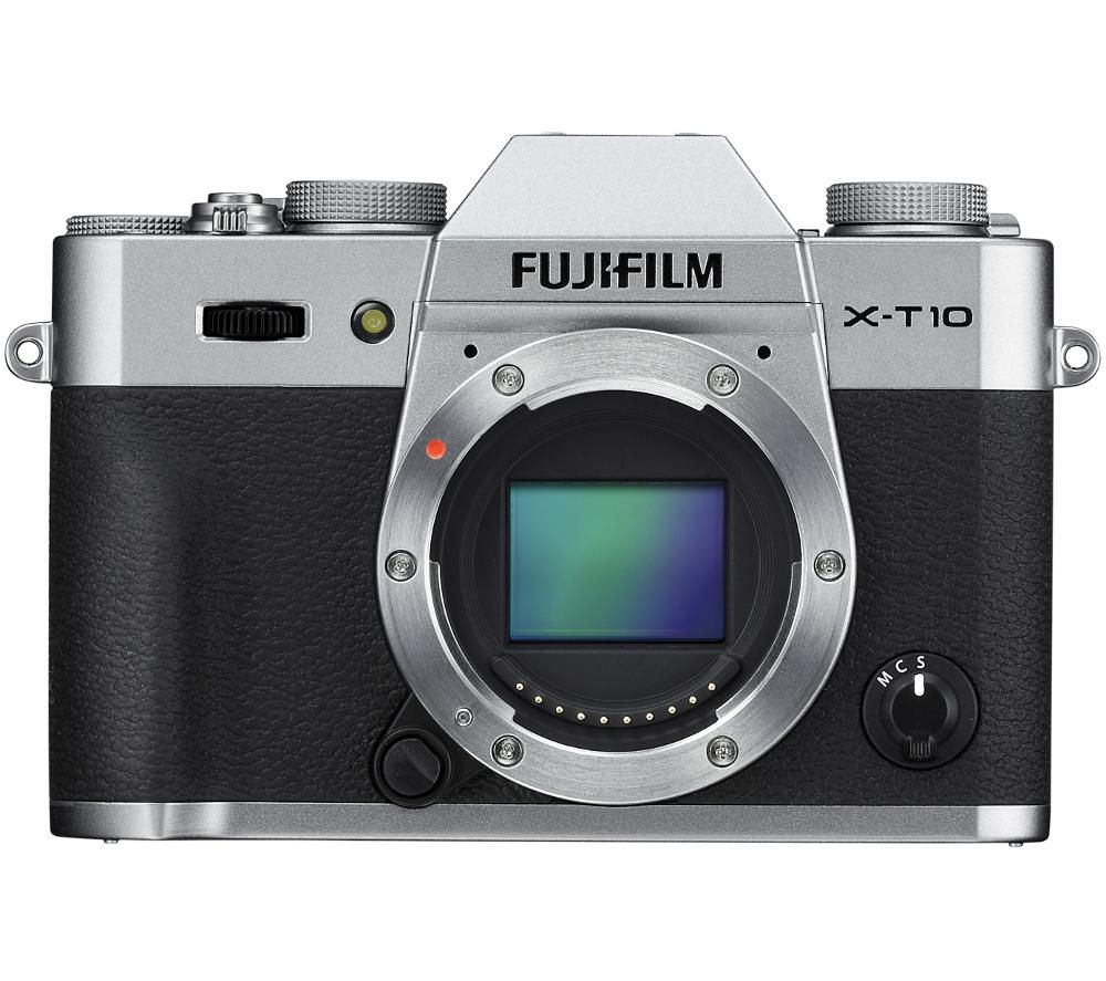 FUJIFILM X-T10 Compact System Camera - Silver, Body Only