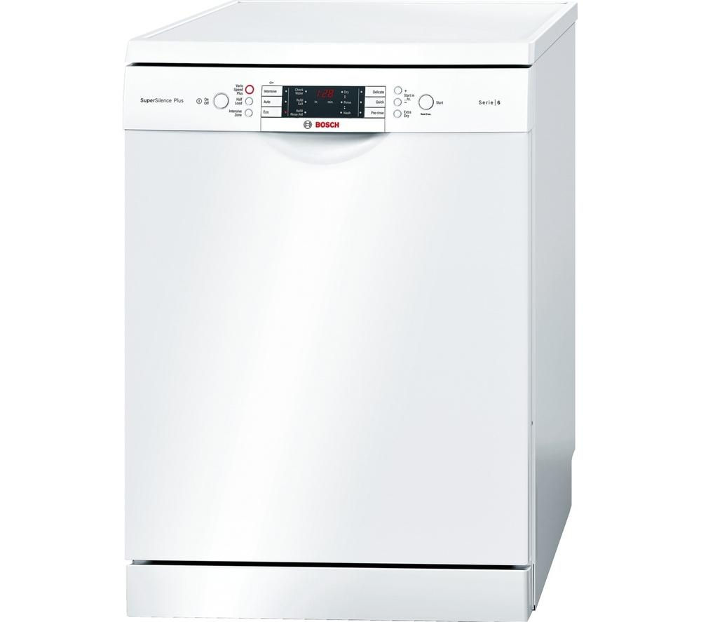BOSCH Serie 6 SMS69M12GB Full-size Dishwasher - White