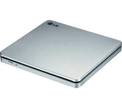 LG GP70NS50 Slot External Slimline USB DVD Writer - Silver