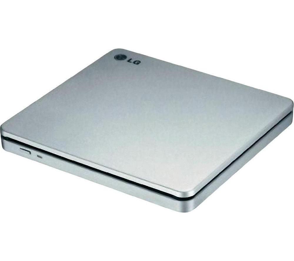 LG  GP70NS50 Slot External Slimline USB DVD Writer - Silver, Silver