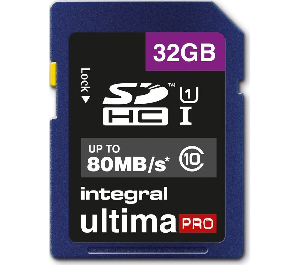 INTEGRAL UltimaPro High Performance Class 10 SDHC Memory Card - 32 GB