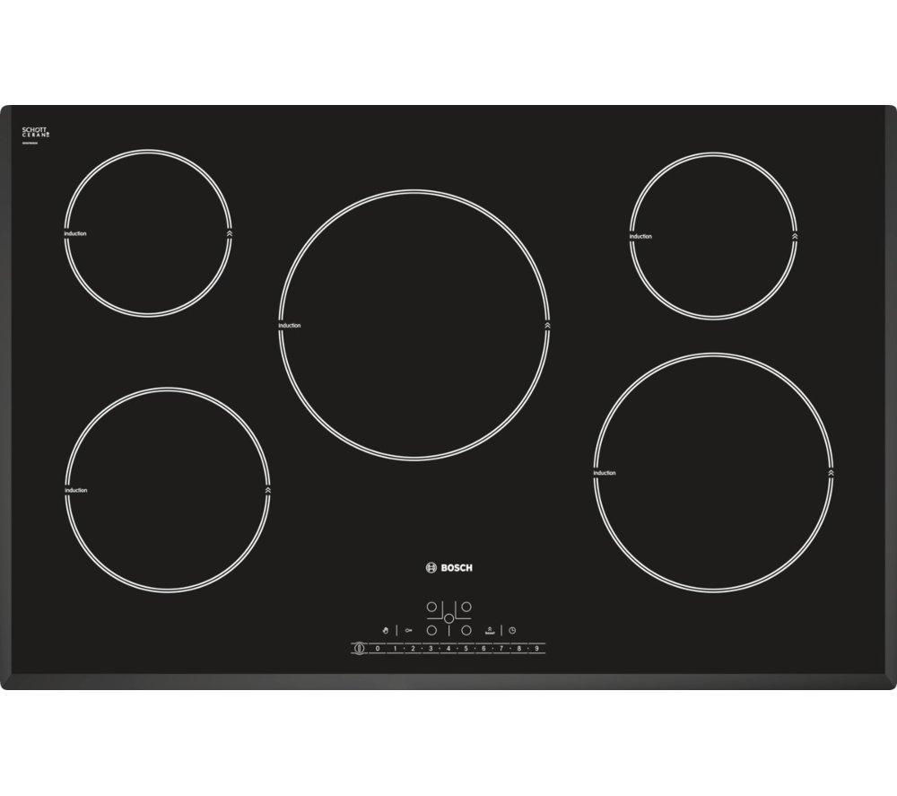 BOSCH PIM851F17E Electric Induction Hob - Black