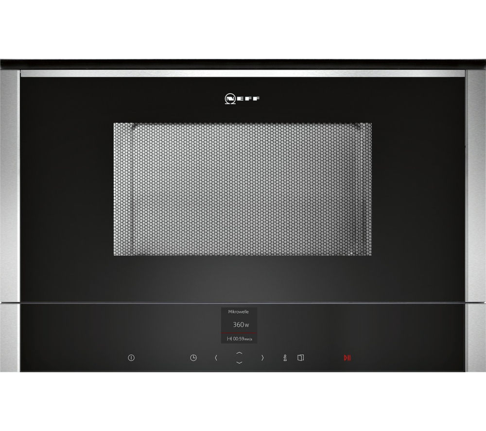 Image of NEFF C17WR01N0B Built-in Solo Microwave - Stainless Steel, Stainless Steel