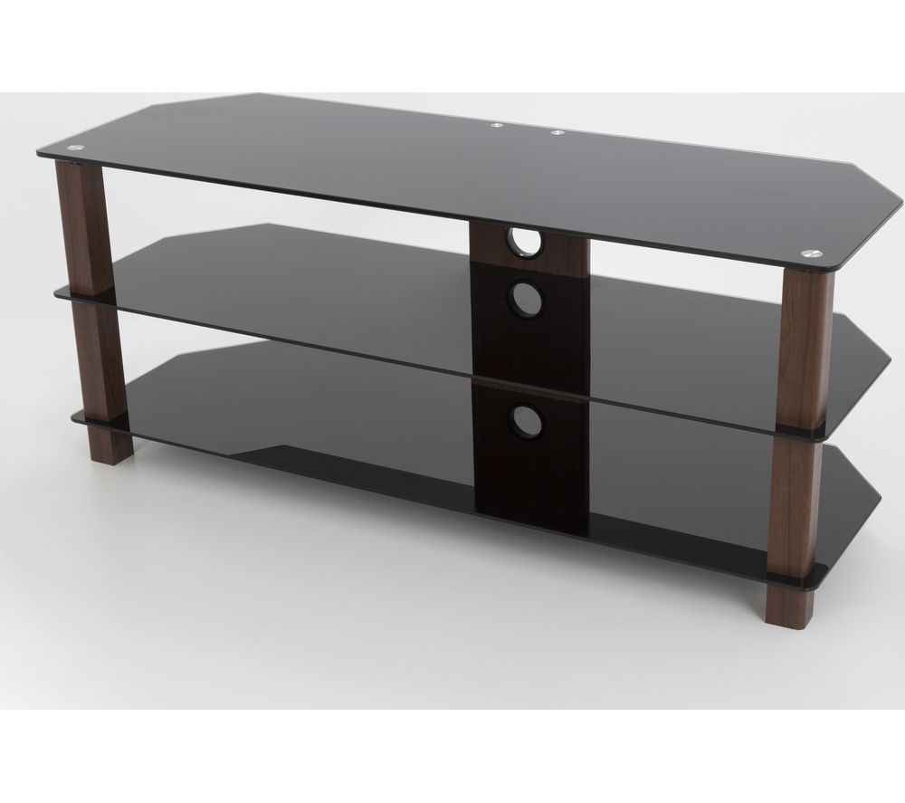 AVF  1250 TV Stand  Walnut & Black Black