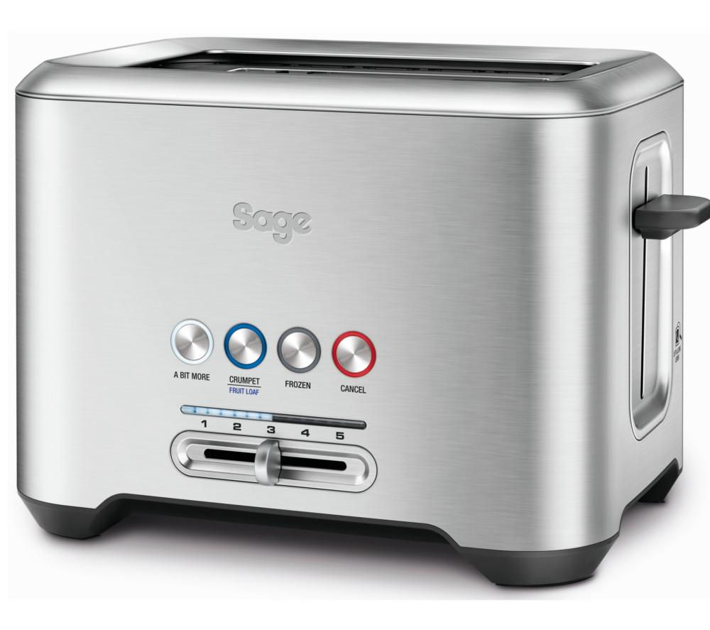 SAGE  by Heston Blumenthal A Bit More 2Slice Toaster  Silver Silver