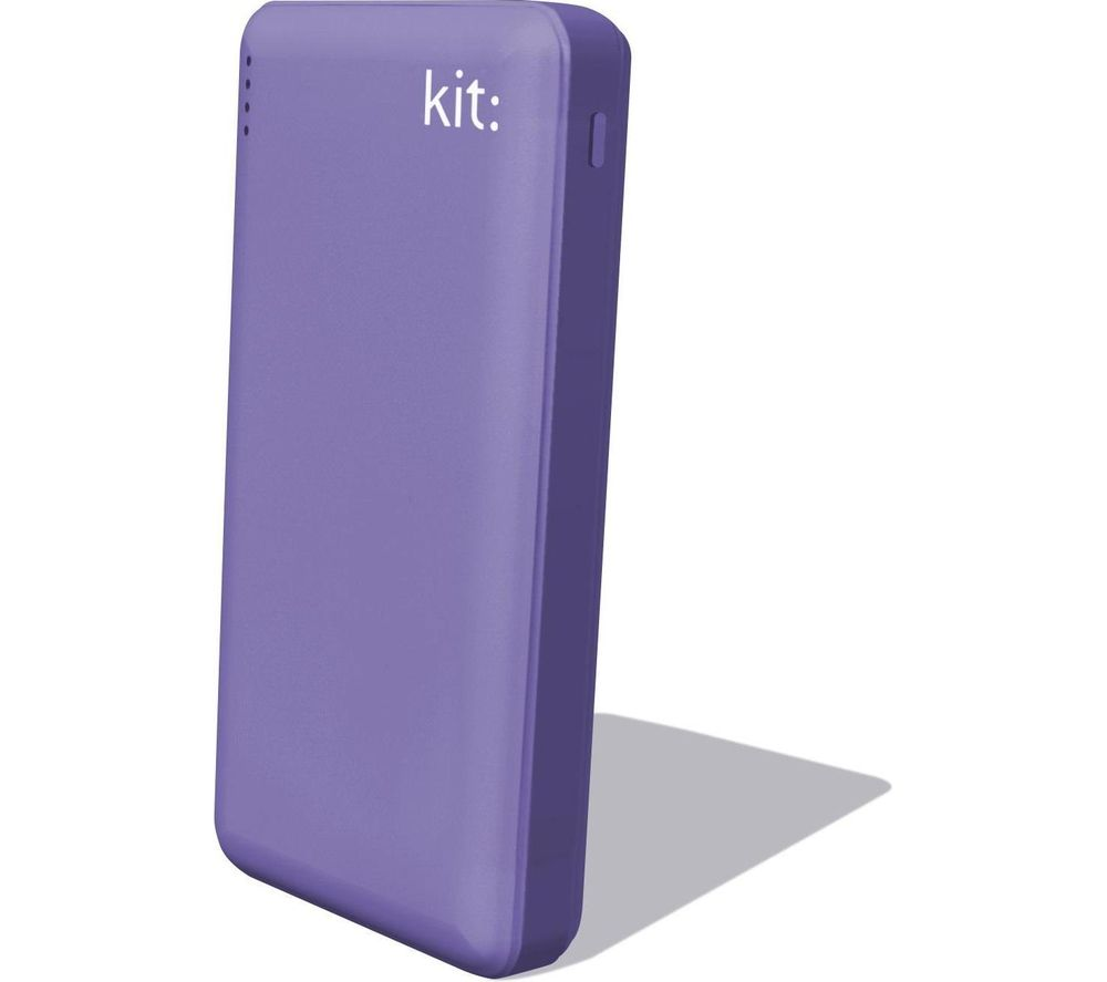 KIT FRESH 12000 mAh Portable Power Bank - Purple