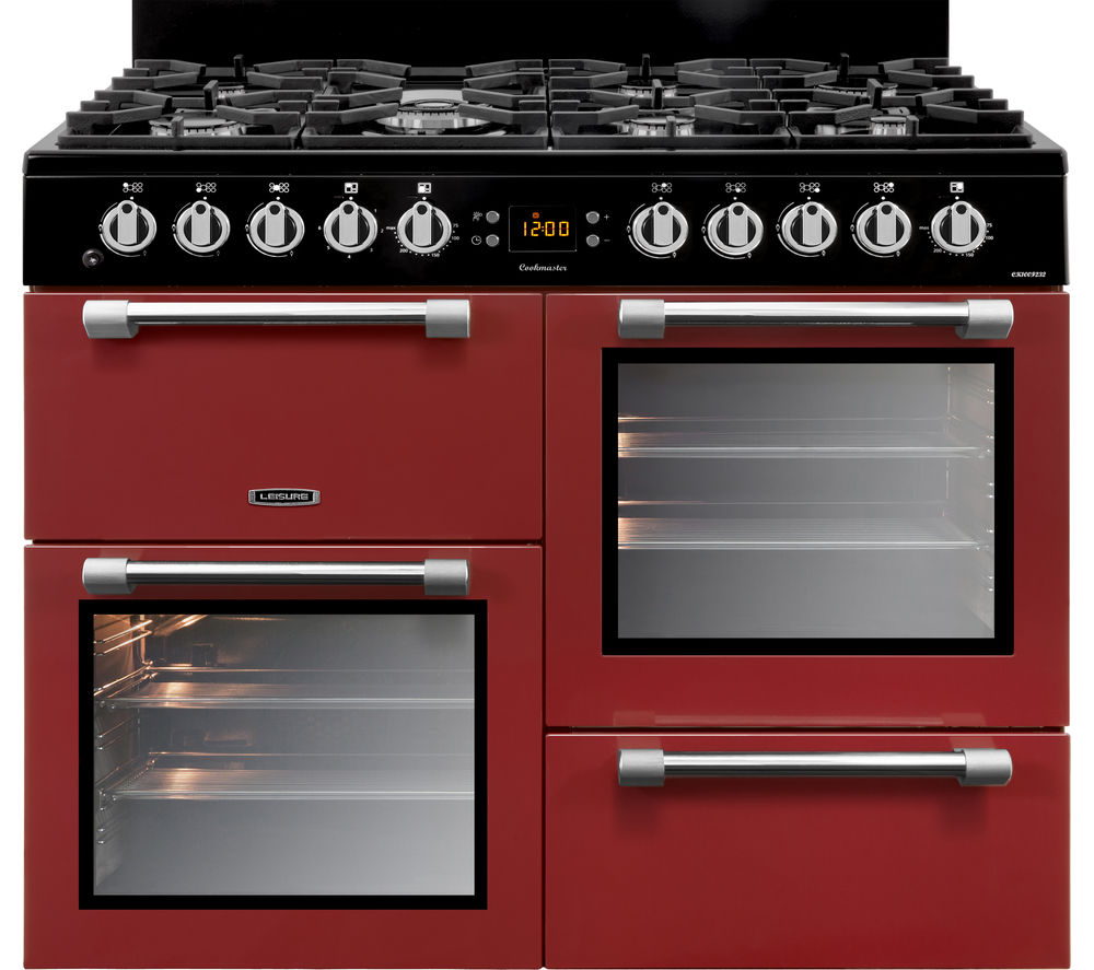 LEISURE Cookmaster 100 CK100F232R 100 cm Dual Fuel Range Cooker - Red & Chrome