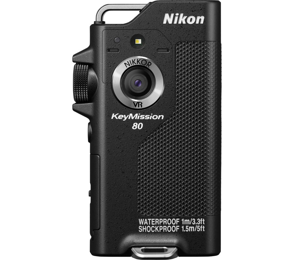NIKON KeyMission 80 Action Camcorder - Black + EN-EL12 Lithium-ion Rechargeable Camera Battery