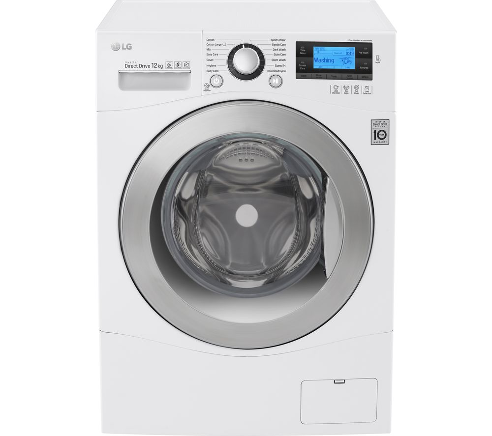 Image of LG FH495BDN2 Smart Washing Machine - White, White