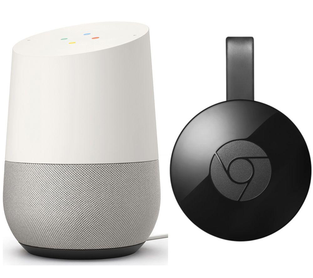 GOOGLEHome Handsfree Smart Speaker & Chromecast Bundle