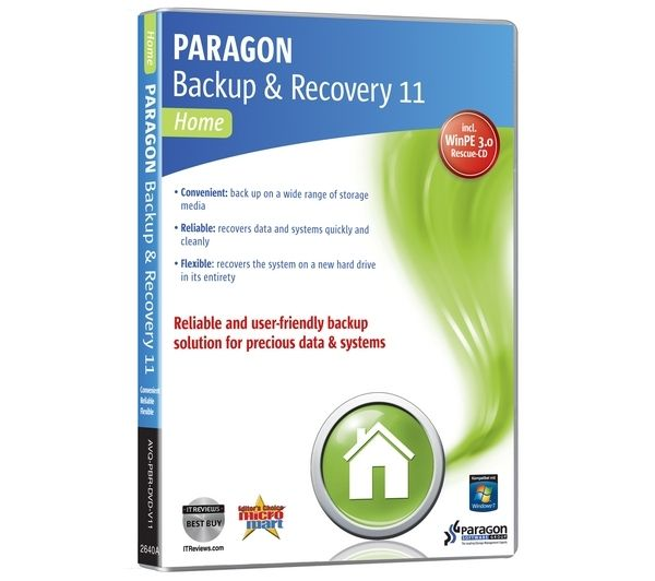 PARAGON Backup & Recovery 11 Home Edition