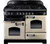 RANGEMASTER Classic Deluxe 110 Dual Fuel Range Cooker - Cream & Chrome