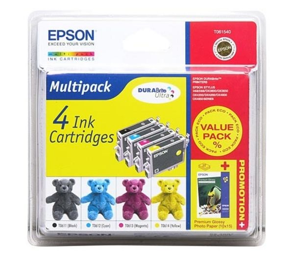 EPSON Teddybear T0615 Cyan, Magenta, Yellow & Black Ink Cartridges - Multipack