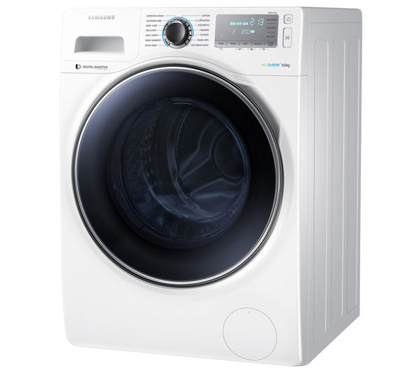 buy samsung ecobubble ww90h7410ew washing machine white free delivery currys. Black Bedroom Furniture Sets. Home Design Ideas