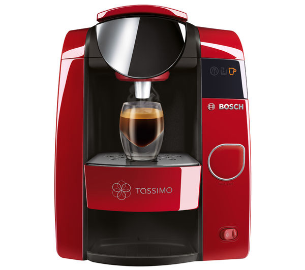 Buy TASSIMO by Bosch Joy TAS4503GB Hot Drinks Machine - Red + Costa Cappuccino T Discs - Pack of ...