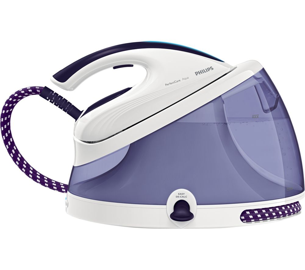 PHILIPS  Perfect Care Aqua GC861630 Steam Generator Iron  Lilac & White Aqua