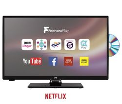 """JVC LT-24C655 Smart 23.6"""" LED TV with Built-in DVD Player"""