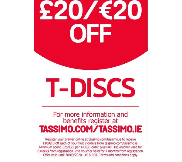Bosch Tassimo Coffee Maker T Discs : Buy TASSIMO by Bosch SUNY TAS3203GB Coffee Machine - Red + Costa Cappuccino T Discs - Pack of 8 ...