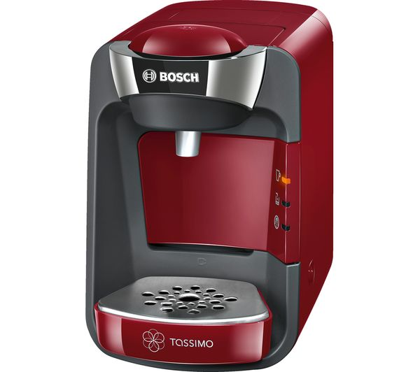 Buy TASSIMO by Bosch SUNY TAS3203GB Coffee Machine - Red + Costa Cappuccino T Discs - Pack of 8 ...