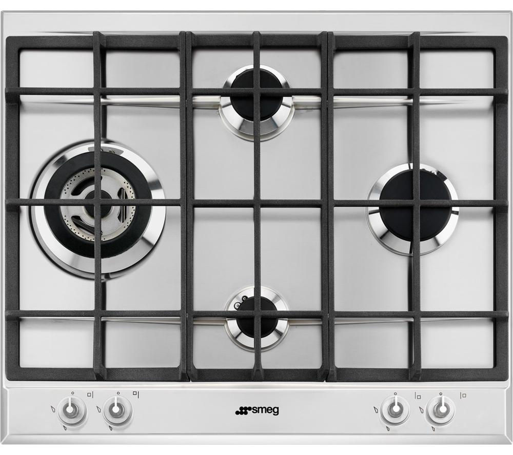SMEG  P1641XT Gas Hob - Stainless Steel +  Linea SFP109 Electric Oven - Stainless Steel