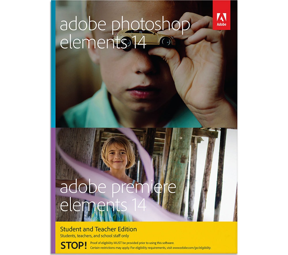 Adobe Adobe Photoshop Elements 14 & Premiere Elements 14 Student & Teacher Edition