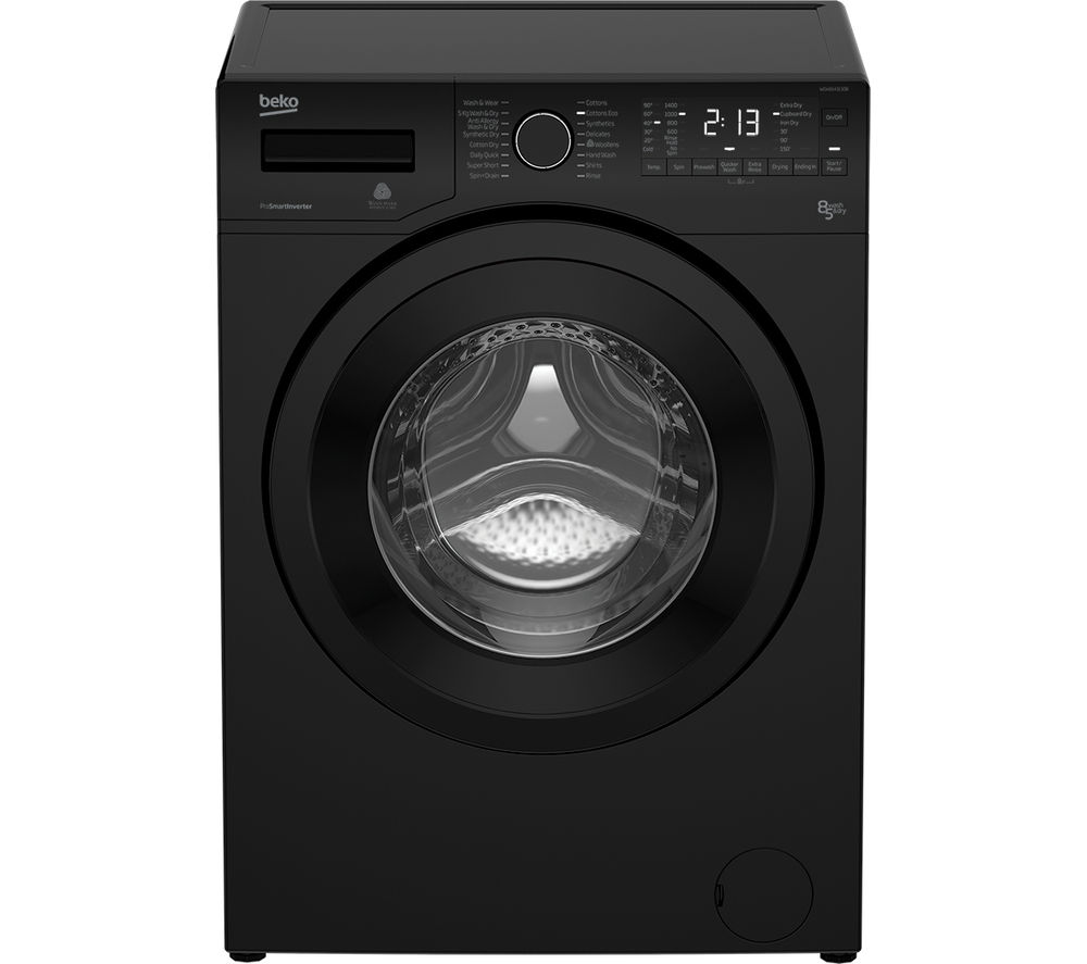 BEKO WDX8543130B Washer Dryer - Black