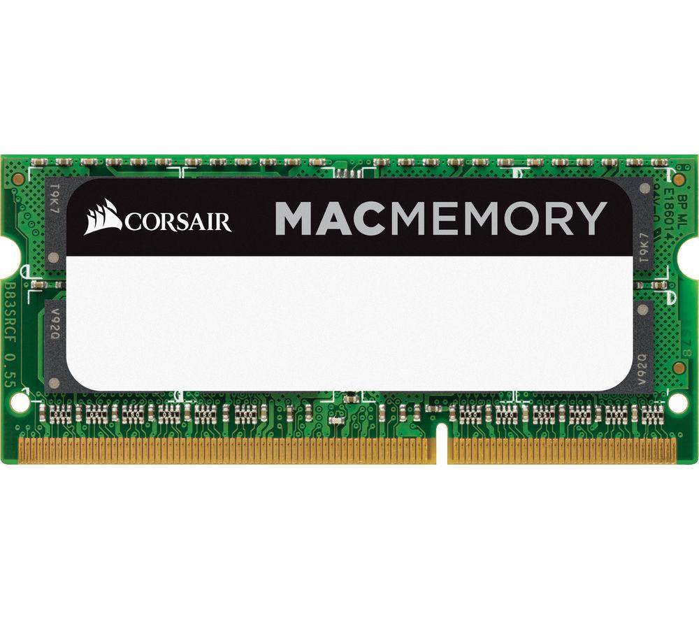 CORSAIR Mac Memory DDR3 PC Memory - 4 GB SODIMM RAM