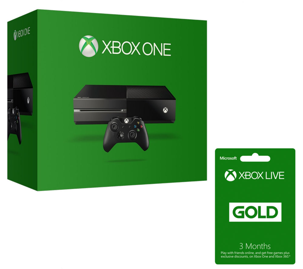 MICROSOFT Xbox One & Xbox LIVE Gold Membership 3 Month Subscription 500 GB Bundle