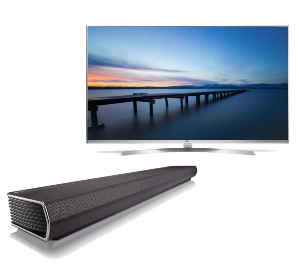buy lg 60uh850v smart 3d 4k ultra hd hdr 60 led tv sh6 4 0 sound bar bundle free delivery. Black Bedroom Furniture Sets. Home Design Ideas