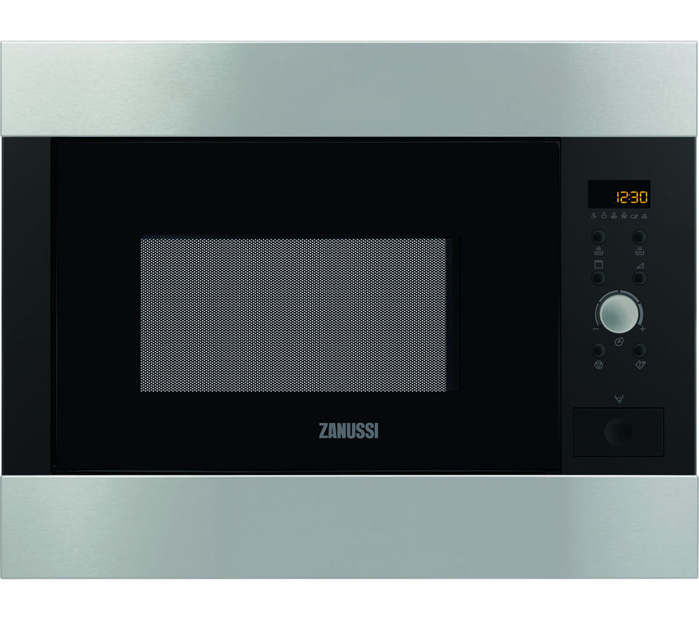 Image of ZANUSSI ZBG26542XA Built-in Microwave with Grill - Stainless Steel, Stainless Steel