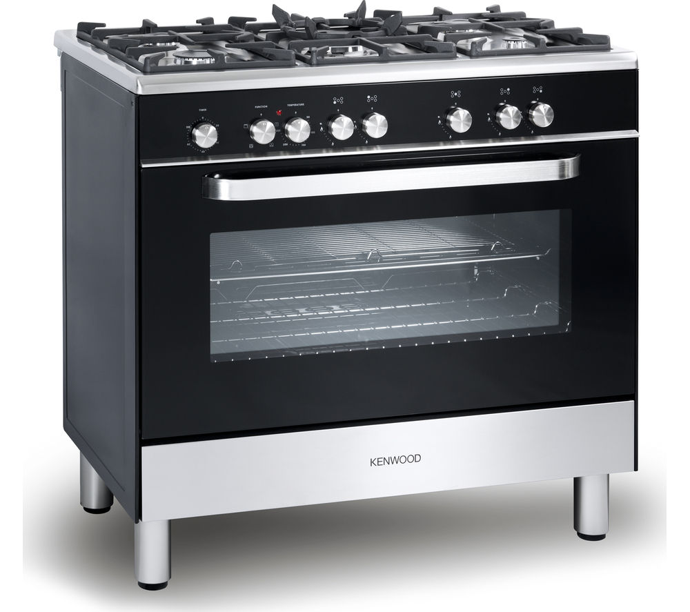 buy kenwood ck305 1 dual fuel range cooker black free. Black Bedroom Furniture Sets. Home Design Ideas