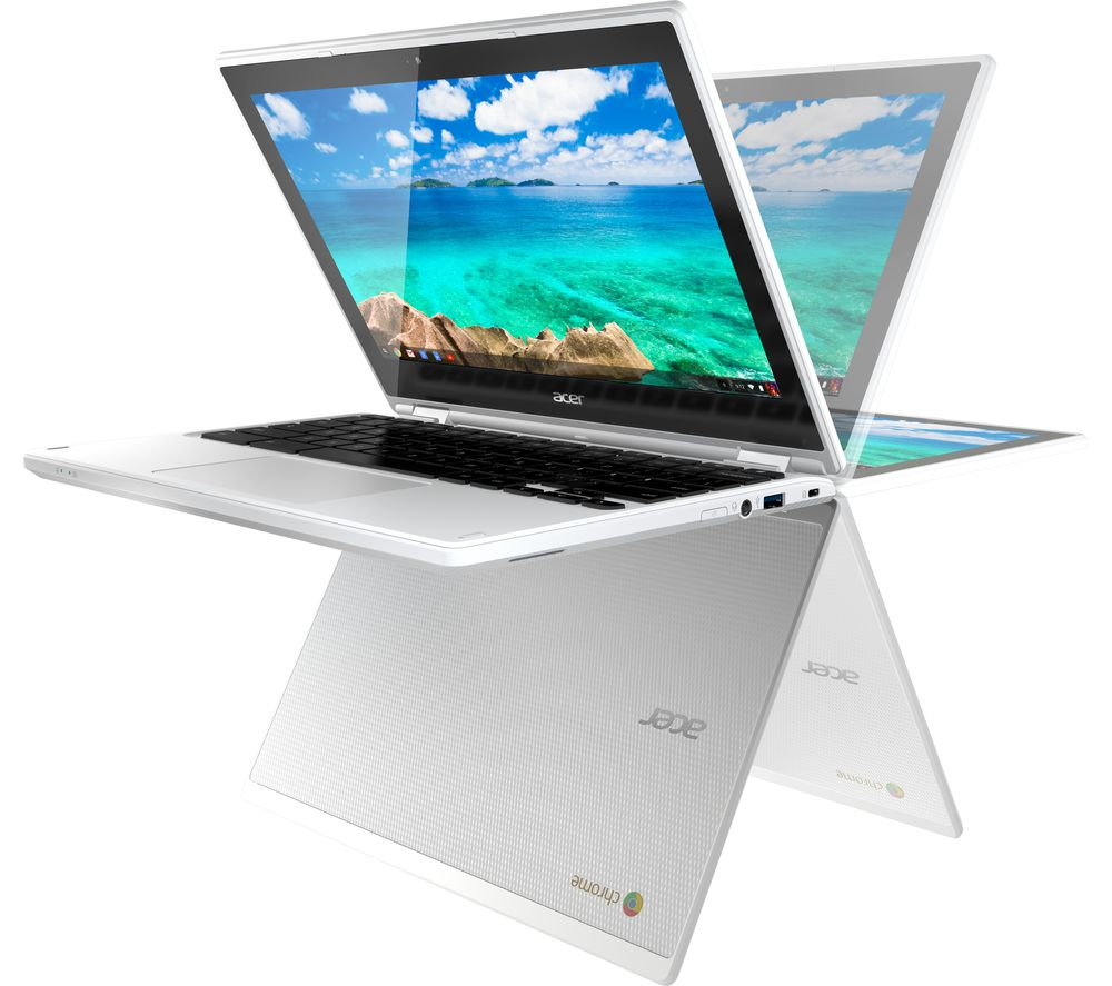ACER Chromebook R 11 CB5-132T 2-in-1 Touchscreen - White + Cloud Storage for Tablets & Mobiles - 200 GB, 1 year
