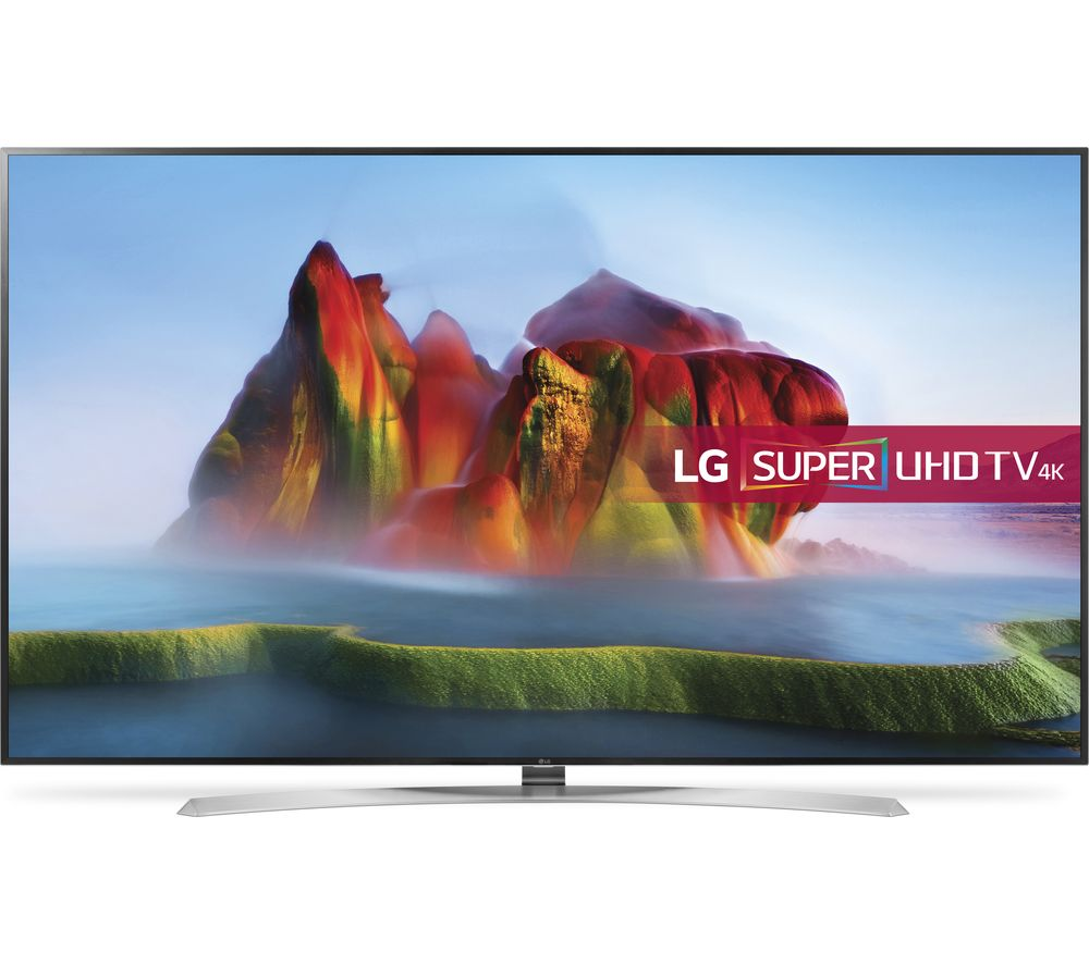 """LG 86SJ957V 86"""" Smart 4K Ultra HD HDR LED TV - Silver & Black"""