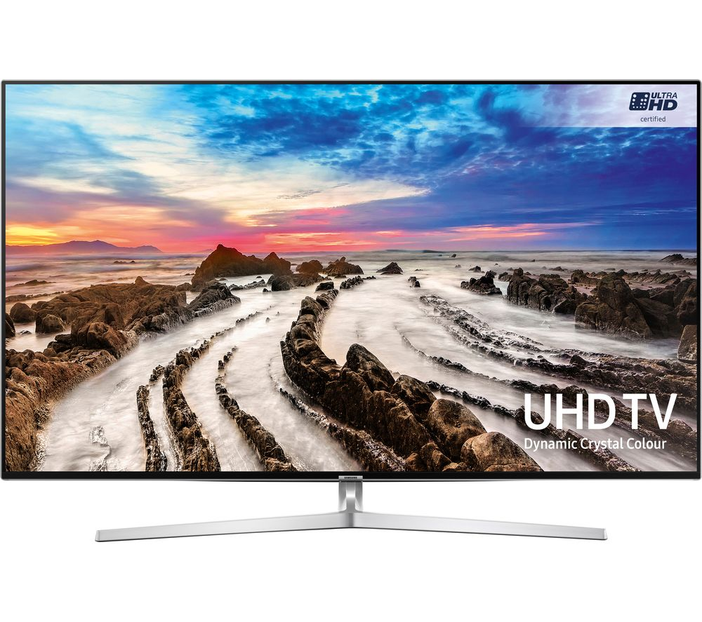 "SAMSUNG UE49MU8000 49"" Smart 4k Ultra HD HDR LED TV + S1HDM315 HDMI Cable with Ethernet - 1 m"