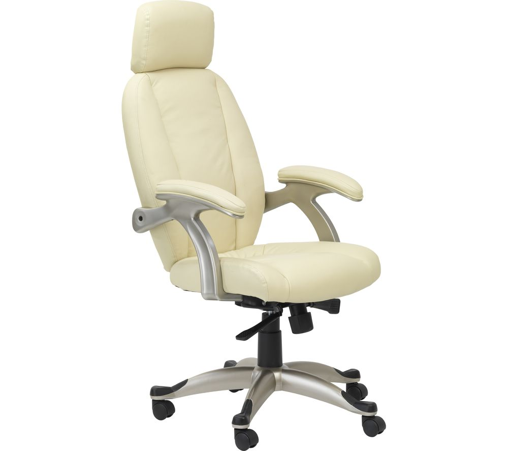 Image of ALPHASON Bentley AOC6355-L-CR Leather Tilting Executive Chair - Cream, Cream