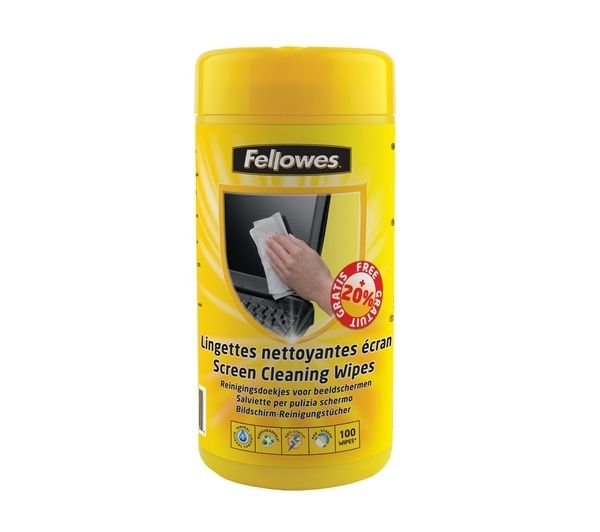 FELLOWES Screen Wipe Tub - 100pk