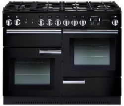 RANGEMASTER Professional+ 110 Gas Range Cooker - Black & Chrome