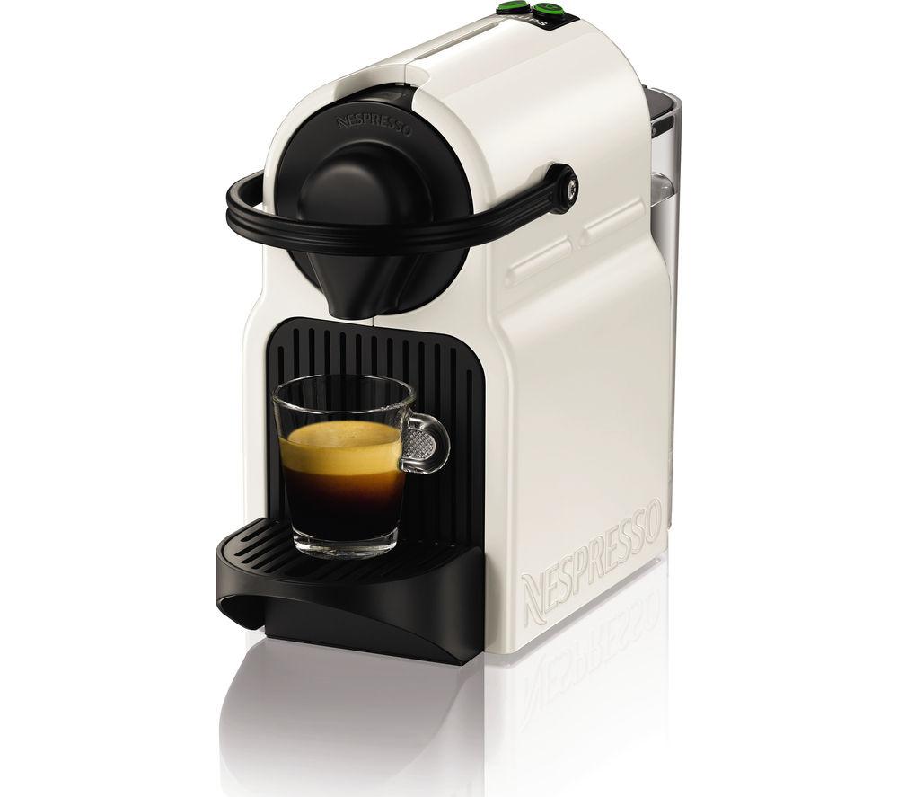 XN101140 Nespresso Inissia Coffee Machine & Aeroccino - White