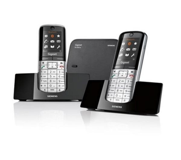 GIGASET SL400A Cordless Phone with Answering Machine - Twin Handsets