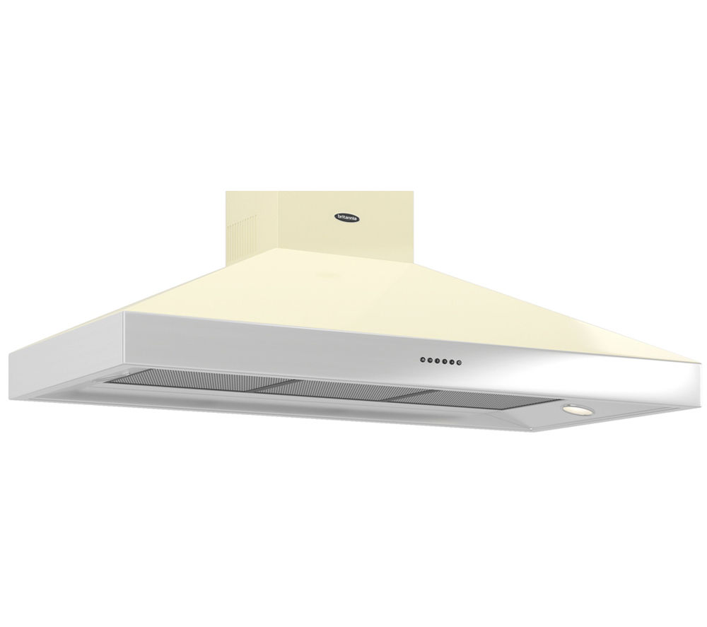 BRITANNIA Latour BTH120GC Chimney Cooker Hood - Cream
