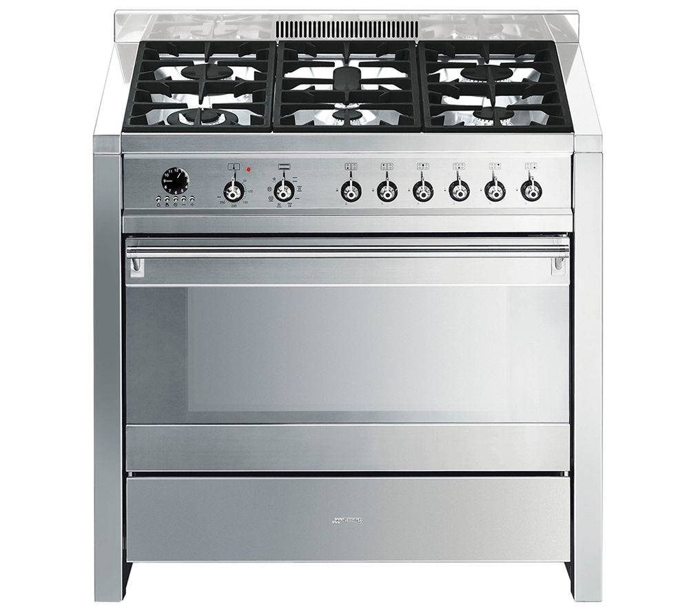 Buy SMEG Opera 90 Dual Fuel Range Cooker - Stainless Steel ...