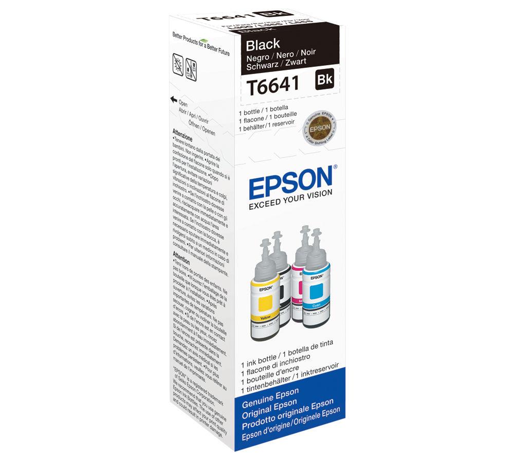 EPSON T6641 Black Ecotank Ink Bottle - 70 ml