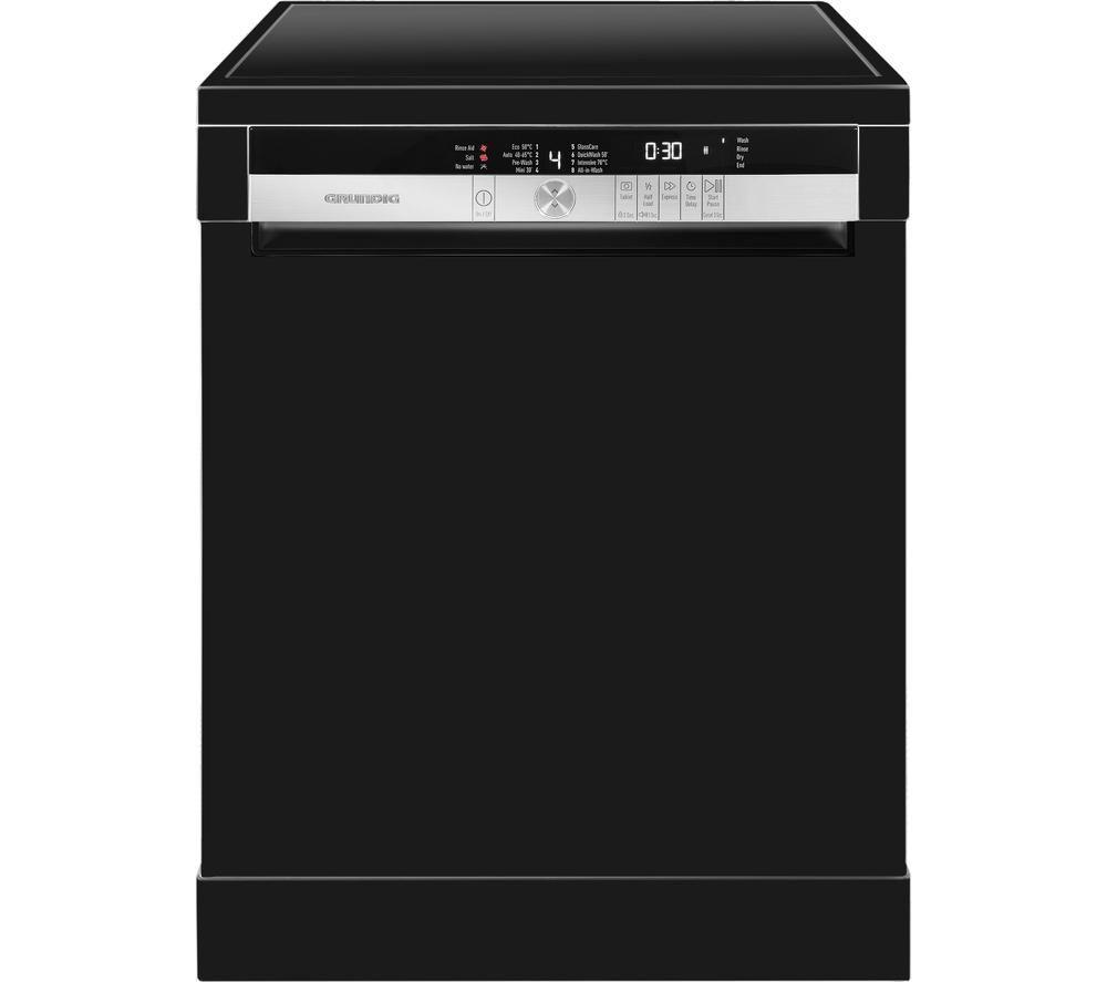 GRUNDIG GNF41810B Fullsize Dishwasher  Black Black