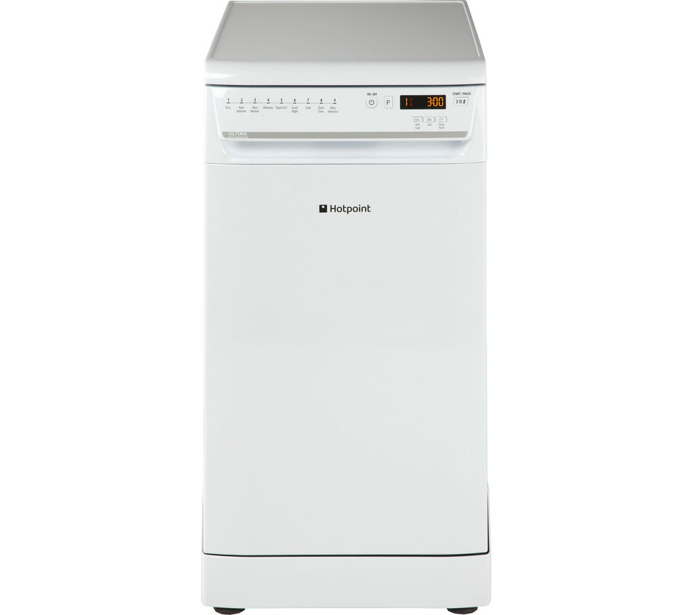 buy hotpoint ultima siuf22111p slimline dishwasher white. Black Bedroom Furniture Sets. Home Design Ideas