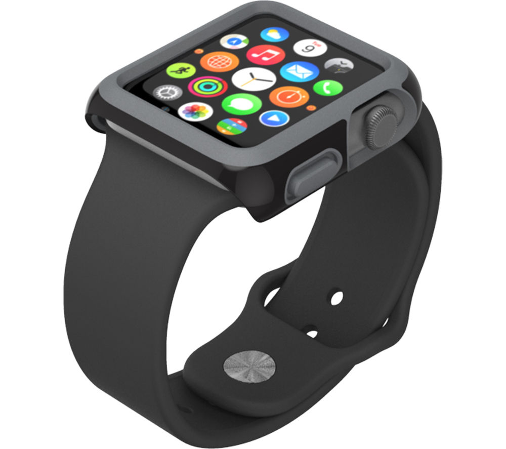 SPECK CandyShell Fit SPK-A4135 42 mm Apple Watch Case - Black & Slate Grey