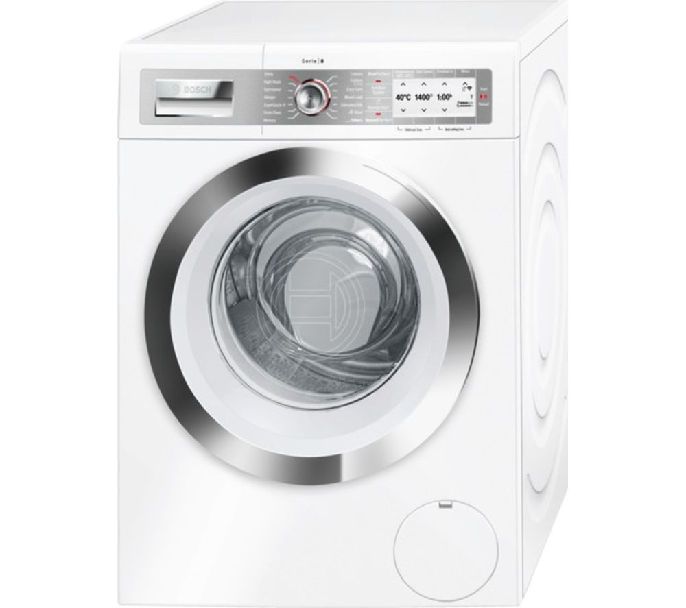 buy bosch serie 8 wayh8790gb smart washing machine white. Black Bedroom Furniture Sets. Home Design Ideas