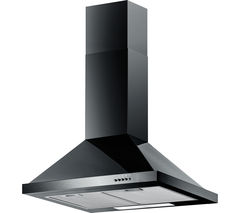BAUMATIC F60.2BL Chimney Cooker Hood - Black