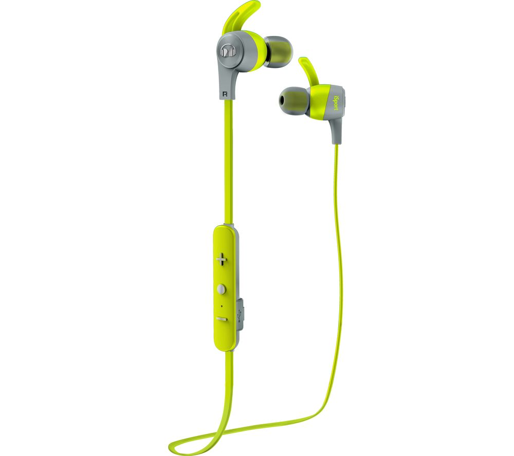 Click to view more of BLUE MONSTER  iSport Achieve Wireless Bluetooth Headphones - Green, Green