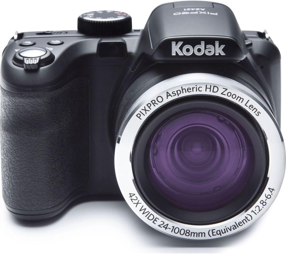 Image of KODAK PIXPRO AZ421-BK Bridge Camera - Black, Black
