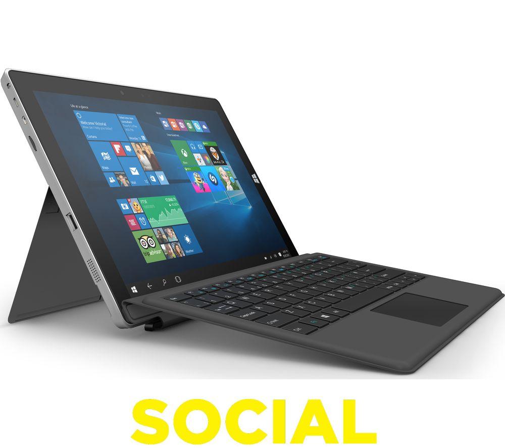 "LINX 12V64 12.2"" Tablet & Keyboard - 64 GB, Black"